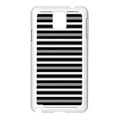 Tribal Stripes Black White Samsung Galaxy Note 3 N9005 Case (white) by Mariart