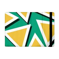 Triangles Texture Shape Art Green Yellow Apple Ipad Mini Flip Case by Mariart