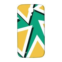 Triangles Texture Shape Art Green Yellow Samsung Galaxy S4 I9500/i9505  Hardshell Back Case by Mariart