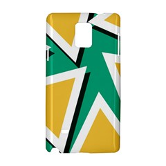 Triangles Texture Shape Art Green Yellow Samsung Galaxy Note 4 Hardshell Case by Mariart