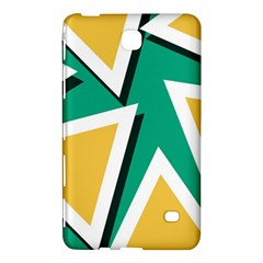 Triangles Texture Shape Art Green Yellow Samsung Galaxy Tab 4 (8 ) Hardshell Case  by Mariart
