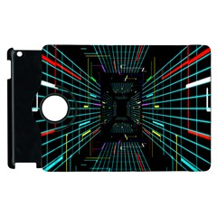 Seamless 3d Animation Digital Futuristic Tunnel Path Color Changing Geometric Electrical Line Zoomin Apple Ipad 3/4 Flip 360 Case by Mariart