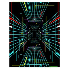 Seamless 3d Animation Digital Futuristic Tunnel Path Color Changing Geometric Electrical Line Zoomin Drawstring Bag (large) by Mariart