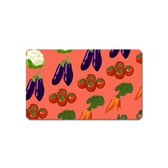 Vegetable Carrot Tomato Pumpkin Eggplant Magnet (name Card) by Mariart