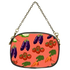 Vegetable Carrot Tomato Pumpkin Eggplant Chain Purses (two Sides)  by Mariart