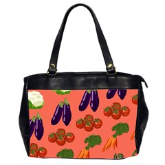 Vegetable Carrot Tomato Pumpkin Eggplant Office Handbags (2 Sides)  by Mariart
