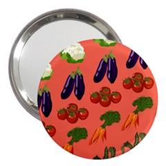 Vegetable Carrot Tomato Pumpkin Eggplant 3  Handbag Mirrors by Mariart