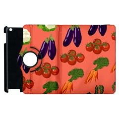 Vegetable Carrot Tomato Pumpkin Eggplant Apple Ipad 2 Flip 360 Case by Mariart