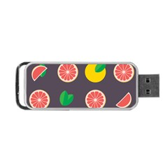 Wild Textures Grapefruits Pattern Lime Orange Portable Usb Flash (two Sides) by Mariart