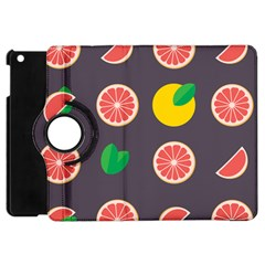 Wild Textures Grapefruits Pattern Lime Orange Apple Ipad Mini Flip 360 Case by Mariart