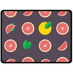 Wild Textures Grapefruits Pattern Lime Orange Double Sided Fleece Blanket (large)  by Mariart