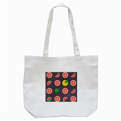 Wild Textures Grapefruits Pattern Lime Orange Tote Bag (white) by Mariart