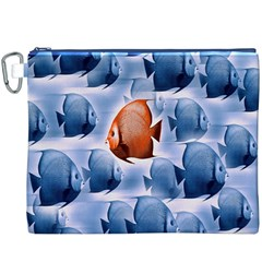 Swim Fish Canvas Cosmetic Bag (xxxl) by Mariart