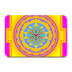 Triangle Orange Pink Plate Mats by Mariart