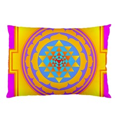 Triangle Orange Pink Pillow Case by Mariart