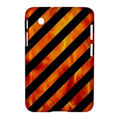 Stripes3 Black Marble & Fire Samsung Galaxy Tab 2 (7 ) P3100 Hardshell Case  by trendistuff