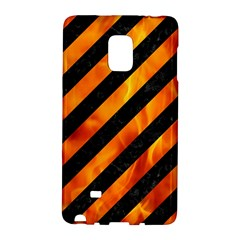 Stripes3 Black Marble & Fire Galaxy Note Edge by trendistuff