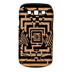 Wooden Cat Face Line Arrow Mask Plaid Samsung Galaxy S Iii Classic Hardshell Case (pc+silicone) by Mariart