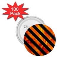 Stripes3 Black Marble & Fire (r) 1 75  Buttons (100 Pack)  by trendistuff