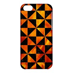 Triangle1 Black Marble & Fire Apple Iphone 5c Hardshell Case by trendistuff