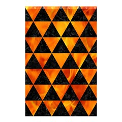 Triangle3 Black Marble & Fire Shower Curtain 48  X 72  (small)  by trendistuff