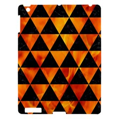Triangle3 Black Marble & Fire Apple Ipad 3/4 Hardshell Case by trendistuff