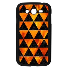 Triangle3 Black Marble & Fire Samsung Galaxy Grand Duos I9082 Case (black) by trendistuff