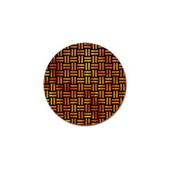 Woven1 Black Marble & Fire Golf Ball Marker (10 Pack) by trendistuff