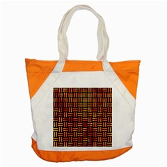 Woven1 Black Marble & Fire Accent Tote Bag by trendistuff