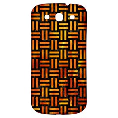 Woven1 Black Marble & Fire Samsung Galaxy S3 S Iii Classic Hardshell Back Case by trendistuff