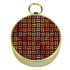 Woven1 Black Marble & Fire Gold Compasses by trendistuff