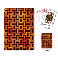 Woven1 Black Marble & Fire (r) Playing Card by trendistuff