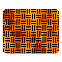 Woven1 Black Marble & Fire (r) Double Sided Flano Blanket (large)  by trendistuff