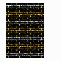 Brick1 Black Marble & Gold Foil Small Garden Flag (two Sides) by trendistuff