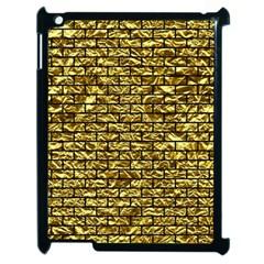 Brick1 Black Marble & Gold Foil (r) Apple Ipad 2 Case (black) by trendistuff