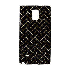 Brick2 Black Marble & Gold Foil Samsung Galaxy Note 4 Hardshell Case by trendistuff