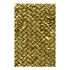 Brick2 Black Marble & Gold Foil (r) Shower Curtain 48  X 72  (small)  by trendistuff