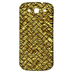 Brick2 Black Marble & Gold Foil (r) Samsung Galaxy S3 S Iii Classic Hardshell Back Case by trendistuff