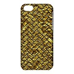Brick2 Black Marble & Gold Foil (r) Apple Iphone 5c Hardshell Case by trendistuff