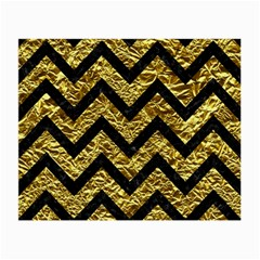 Chevron9 Black Marble & Gold Foil (r) Small Glasses Cloth (2 Side)
