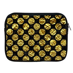 Circles2 Black Marble & Gold Foil Apple Ipad 2/3/4 Zipper Cases by trendistuff