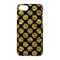 Circles2 Black Marble & Gold Foil Apple Iphone 7 Hardshell Case by trendistuff