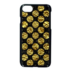 Circles2 Black Marble & Gold Foil Apple Iphone 7 Seamless Case (black) by trendistuff