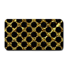 Circles2 Black Marble & Gold Foil (r) Medium Bar Mats by trendistuff