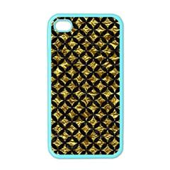 Circles3 Black Marble & Gold Foil (r) Apple Iphone 4 Case (color) by trendistuff