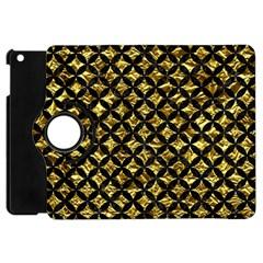 Circles3 Black Marble & Gold Foil (r) Apple Ipad Mini Flip 360 Case by trendistuff