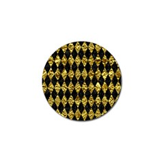 Diamond1 Black Marble & Gold Foil Golf Ball Marker (4 Pack) by trendistuff