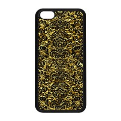 Damask2 Black Marble & Gold Foil (r) Apple Iphone 5c Seamless Case (black) by trendistuff