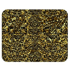 Damask2 Black Marble & Gold Foil (r) Double Sided Flano Blanket (medium)  by trendistuff