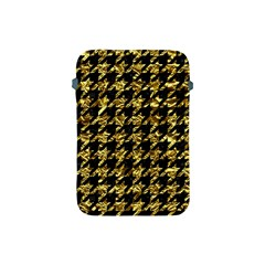 Houndstooth1 Black Marble & Gold Foil Apple Ipad Mini Protective Soft Cases by trendistuff